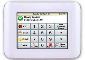 color touch screen alarm pad