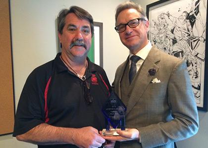 Don Moore Receiving the Morpheus Award
