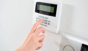 Person Setting a Burglar Alarm