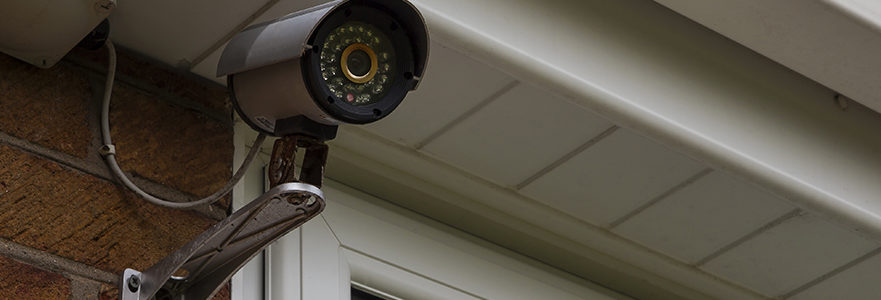 Home Security Monitoring Cameras In Front Of Home